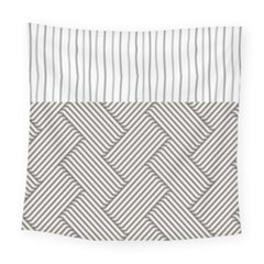 Lines And Stripes Patterns Square Tapestry (large)