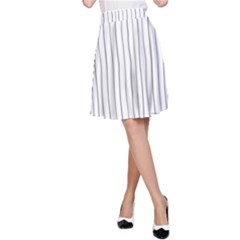 Hand drawn lines pattern A-Line Skirt