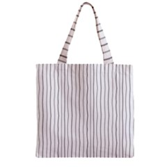 Hand drawn lines pattern Zipper Grocery Tote Bag