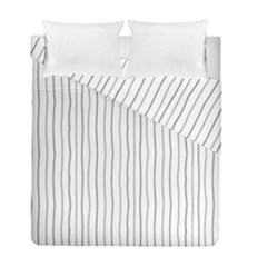 Hand drawn lines pattern Duvet Cover Double Side (Full/ Double Size)