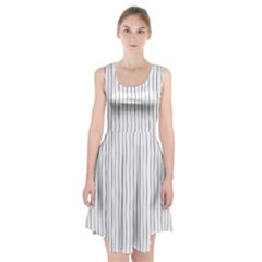Hand Drawn Lines Pattern Racerback Midi Dress