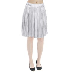 Hand Drawn Lines Pattern Pleated Skirt