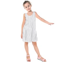 Hand Drawn Lines Pattern Kids  Sleeveless Dress