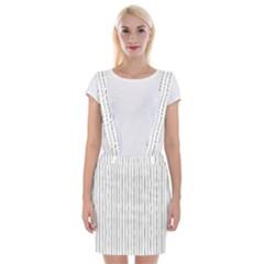 Hand Drawn Lines Pattern Suspender Skirt