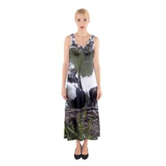 Treeing Walker Coonhound In Water Sleeveless Maxi Dress