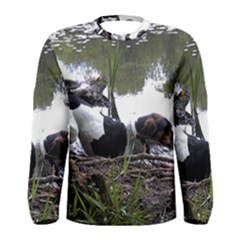 Treeing Walker Coonhound In Water Men s Long Sleeve Tee