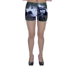 Treeing Walker Coonhound In Water Skinny Shorts
