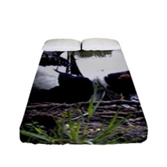 Treeing Walker Coonhound In Water Fitted Sheet (Full/ Double Size)