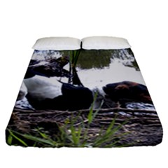 Treeing Walker Coonhound In Water Fitted Sheet (Queen Size)