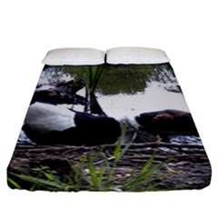 Treeing Walker Coonhound In Water Fitted Sheet (King Size)