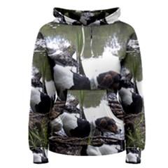 Treeing Walker Coonhound In Water Women s Pullover Hoodie
