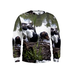 Treeing Walker Coonhound In Water Kids  Sweatshirt