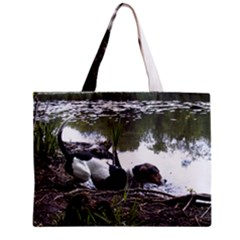 Treeing Walker Coonhound In Water Zipper Mini Tote Bag