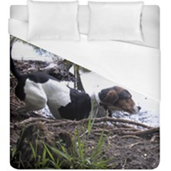 Treeing Walker Coonhound In Water Duvet Cover (King Size)