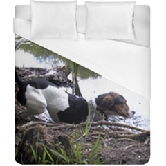 Treeing Walker Coonhound In Water Duvet Cover (California King Size)