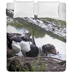 Treeing Walker Coonhound In Water Duvet Cover Double Side (California King Size)