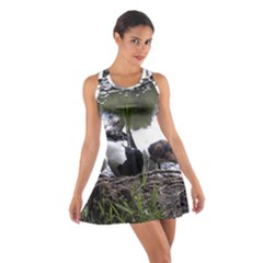 Treeing Walker Coonhound In Water Cotton Racerback Dress