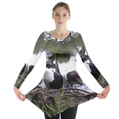 Treeing Walker Coonhound In Water Long Sleeve Tunic