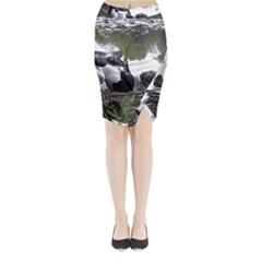 Treeing Walker Coonhound In Water Midi Wrap Pencil Skirt