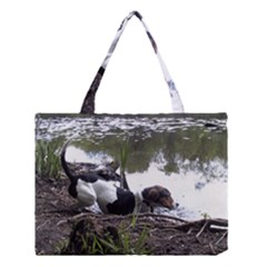 Treeing Walker Coonhound In Water Medium Tote Bag