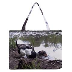 Treeing Walker Coonhound In Water Medium Zipper Tote Bag