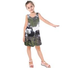 Treeing Walker Coonhound In Water Kids  Sleeveless Dress