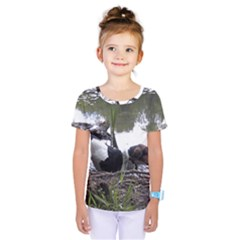 Treeing Walker Coonhound In Water Kids  One Piece Tee