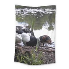 Treeing Walker Coonhound In Water Small Tapestry