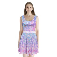 watercolor_diamond Split Back Mini Dress