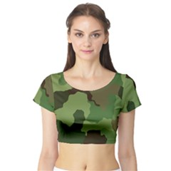 A Completely Seamless Tile Able Background Design Pattern Short Sleeve Crop Top (tight Fit)