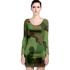 A Completely Seamless Tile Able Background Design Pattern Long Sleeve Bodycon Dress