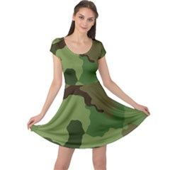 A Completely Seamless Tile Able Background Design Pattern Cap Sleeve Dresses