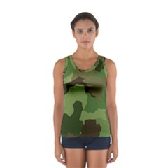 A Completely Seamless Tile Able Background Design Pattern Women s Sport Tank Top