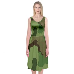 A Completely Seamless Tile Able Background Design Pattern Midi Sleeveless Dress