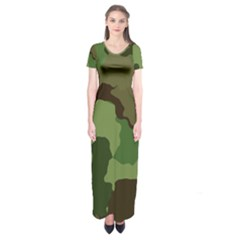 A Completely Seamless Tile Able Background Design Pattern Short Sleeve Maxi Dress
