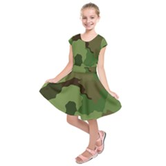 A Completely Seamless Tile Able Background Design Pattern Kids  Short Sleeve Dress