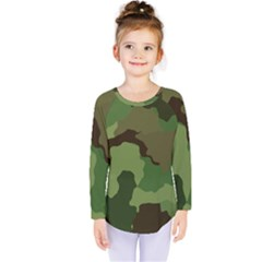 A Completely Seamless Tile Able Background Design Pattern Kids  Long Sleeve Tee