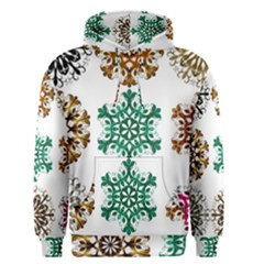 A Set Of 9 Nine Snowflakes On White Men s Pullover Hoodie