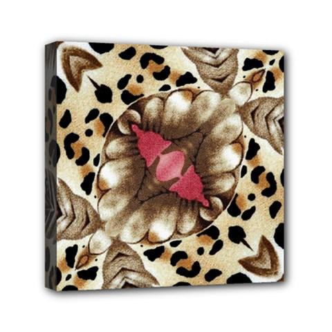 Animal Tissue And Flowers Mini Canvas 6  X 6