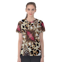 Animal Tissue And Flowers Women s Cotton Tee