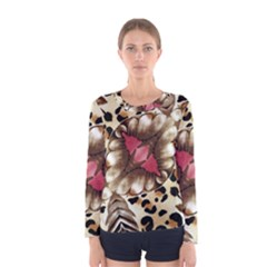 Animal Tissue And Flowers Women s Long Sleeve Tee