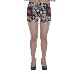 Animal Tissue And Flowers Skinny Shorts