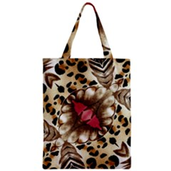 Animal Tissue And Flowers Zipper Classic Tote Bag