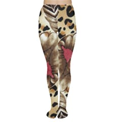 Animal Tissue And Flowers Women s Tights