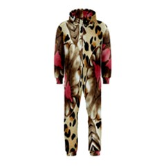 Animal Tissue And Flowers Hooded Jumpsuit (kids)