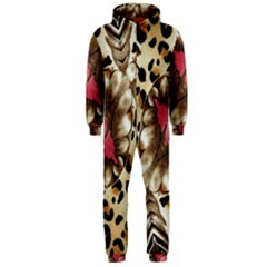 Animal Tissue And Flowers Hooded Jumpsuit (Men)