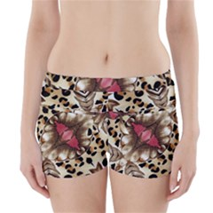 Animal Tissue And Flowers Boyleg Bikini Wrap Bottoms