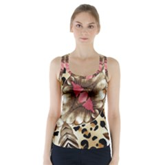 Animal Tissue And Flowers Racer Back Sports Top