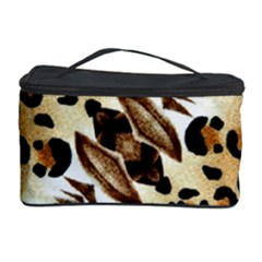 Background Fabric Animal Motifs And Flowers Cosmetic Storage Case