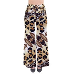 Background Fabric Animal Motifs And Flowers Pants